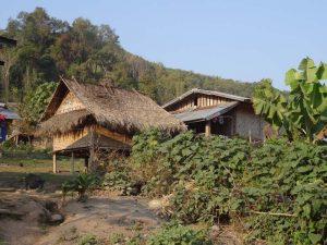 Ein Bergdorf in Laos