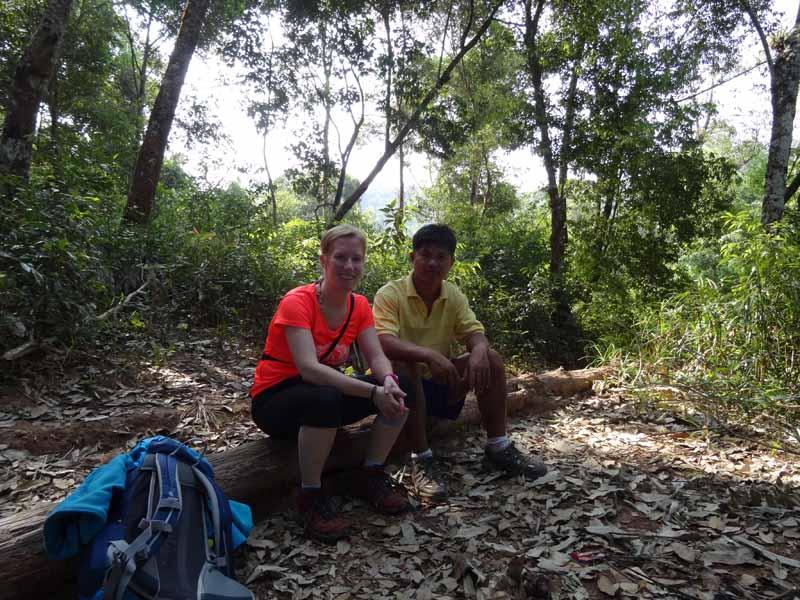 Beim Trekking werden Sie von einem Guide begleitet