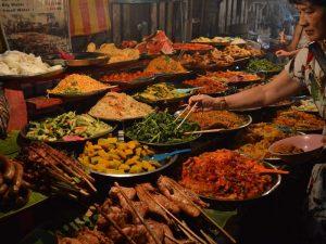 Verschiedene laotische Speisen