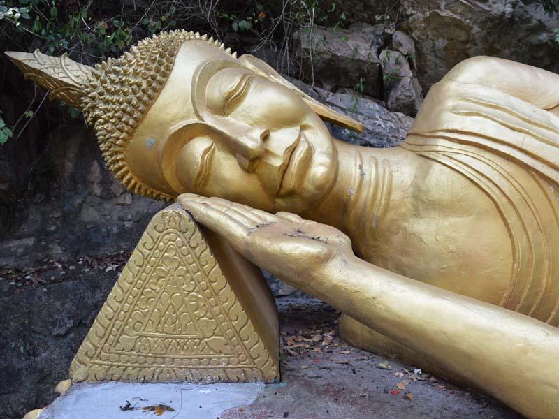 Goldener Buddha in Luang Prabang
