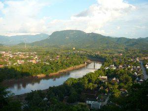 Laos Sehenswürdigkeiten - Blick vom Phou Si Berg über Luang Prabang