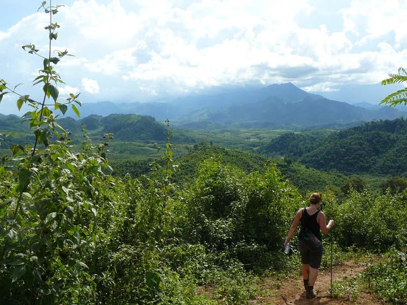 Erleben Sie bei einem Tagestrekking die Landschaft um Luang Prabang