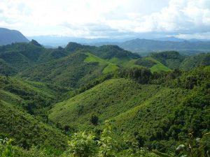 Ausblick beim Laos Trekking