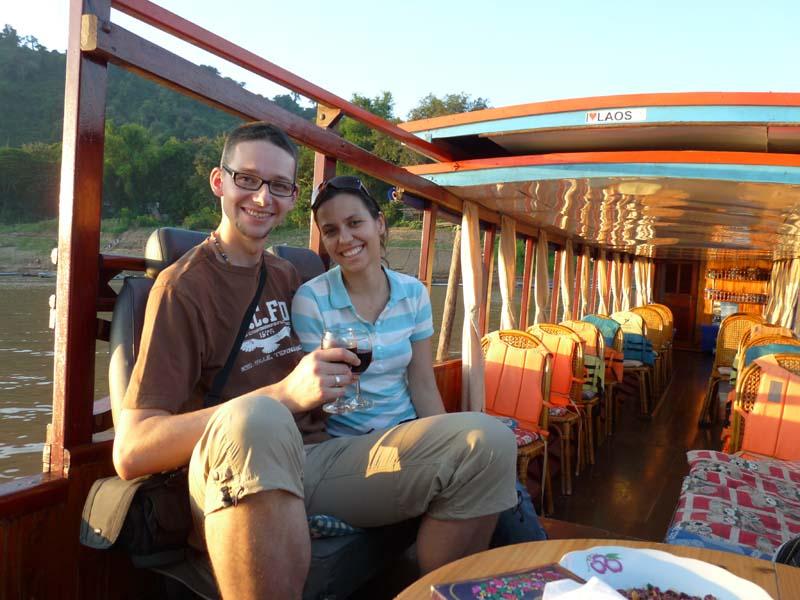 Reisespezialistin Claudia unterwegs auf dem Mekong
