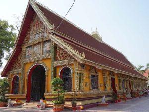 Der Wat Si Muang Tempel in Vientiane