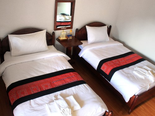 Familiär eingerichtete Zimmer im Hotel in Pak Beng
