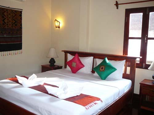 Helles Zimmer der Unterkunft in Luang Prabang