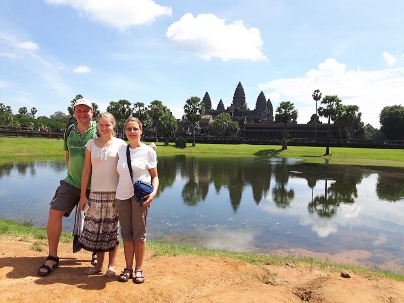Beeindruckender Tempel Angkor Wat