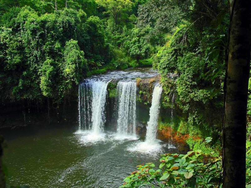 Wasserfälle auf dem Bolaven Plateau