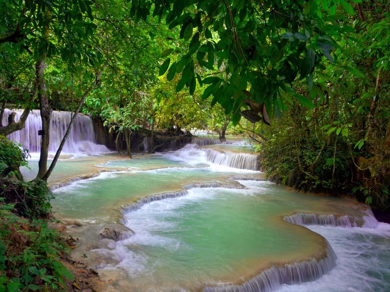 Tagesausflug ab Luang Prabang zum Kuang Si Wasserfall