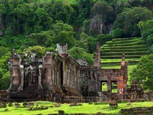 Ruinen des Wat Phou