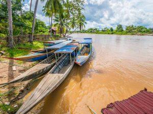 Don Khone, eine der 4000 Inseln im Mekong, erkunden