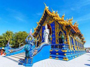 Blauer Tempel Wat Rong Seur Ten in Chiang Rai