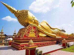 Liegender Buddha in Vientiane