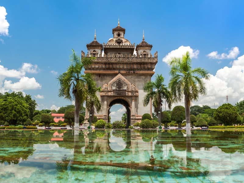 Vientiane Ausflüge: Patuxai in Vientiane