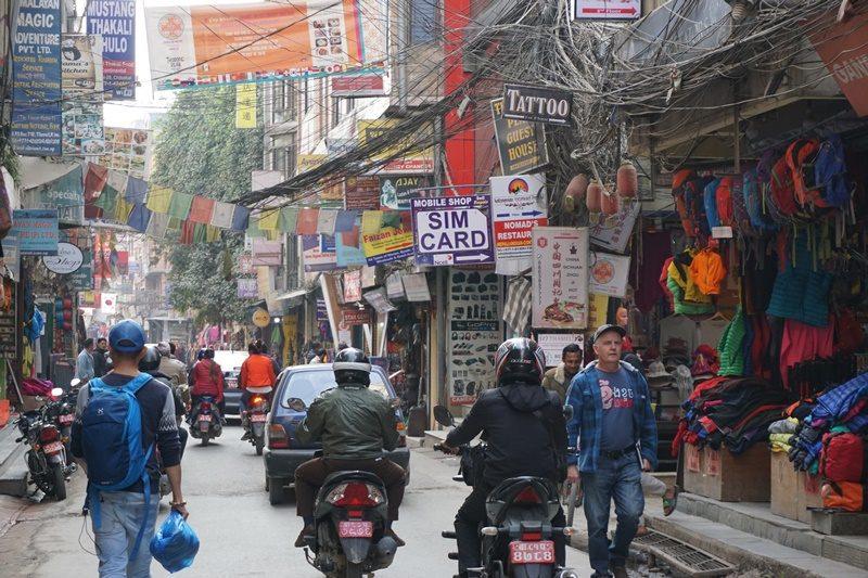 Straßenszene in Kathmandu