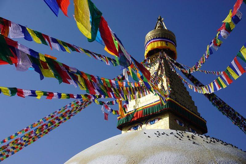 Tibetische Bodnath Stupa in Kathmandu