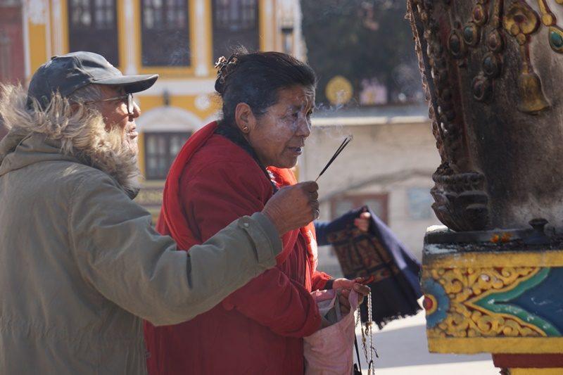 Religiöse Nepalesen