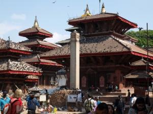 Durbar Square in Kathmandu nach dem Erdbeben 2016