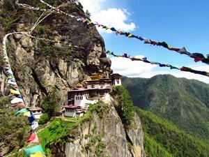 Blick auf das Tigernest in Bhutan