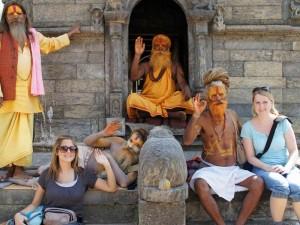 Nepal Gruppenreise: Sadhus in Kathmandu