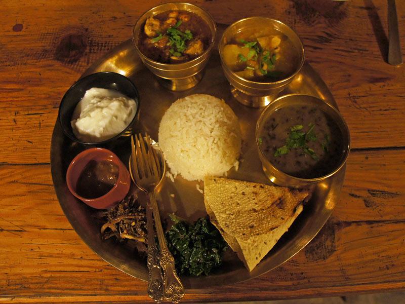 Nepalesisches Thali