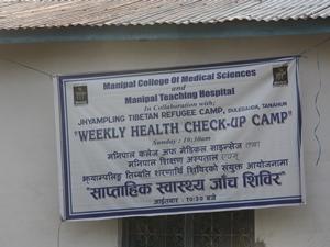 Einladung zu einem wöchentlicher Gesundheitscheck im nepalesischen Krankenhaus