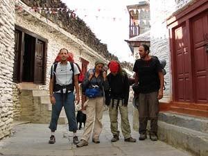 Gruppe bei Ankunft in Marpha