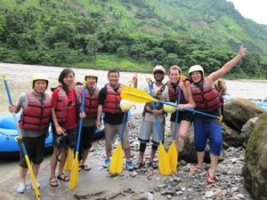 Start der Rafting Tour