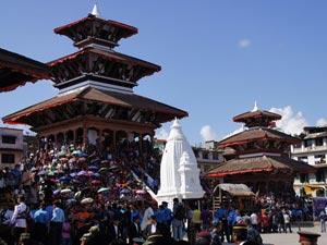 Ein Tempel auf dem Durbar Platz in Kathmandu