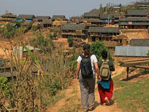 Wandern Newari Dörfer