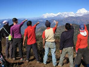 Blick auf den Daulagiri im Annapurna