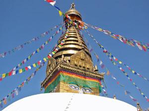 3 Wochen Nepal: Stupa des Swayambuntah Tempels