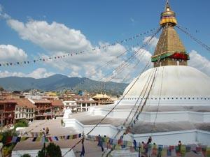 Nepal Gruppenreise: Bodhanath Tempel bei Kathmandu