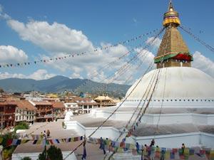 Bodhanath Tempel bei Kathmandu