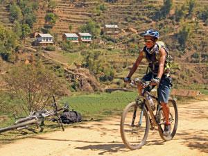 Landschaft im Kathmandu-Tal