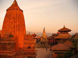 Magisches Bhaktapur in der Abendsonne