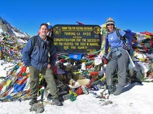 Thorung La Pass im Annapurna Gebiet