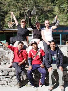 Trekking-Gruppe nach der Wanderung