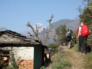 Landschaft im Annapurna-Gebirge während Ihrer 2 Wochen Nepal