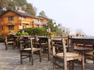 Terrasse am Hotel in Nagarkot