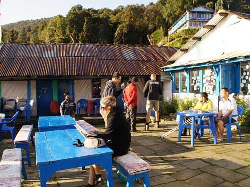 2 Wochen Nepal Unterkunft Terrasse