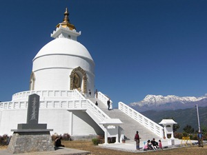 World Peace Pagoda in Pokhara