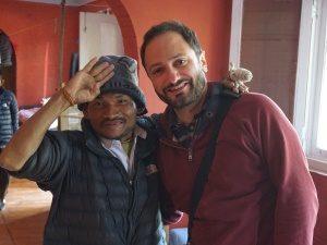 Mark besucht das Hilfsprojekt vor Ort