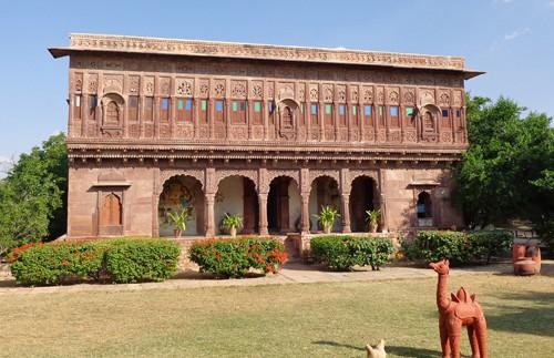 india fort chandalao binnentuin