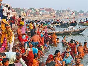 India Ganges rivier Varanasi