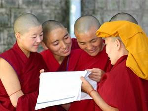 groepje monniken sikh india
