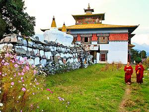 reizen himalaya tempel trekking