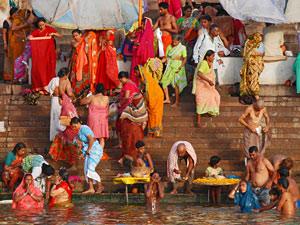 india varanasi ganges rivier