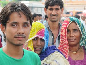 india jaipur mensen